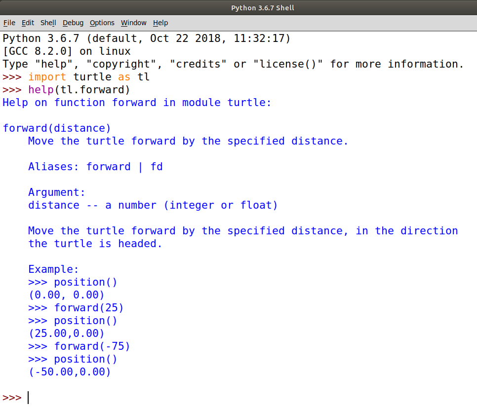 Demonstrationg how to use use the help function in Python to find more information about things!